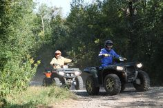 """ATVing - Our area has some of the best riding trails for your ATV. From smooth rides on the Soo Line Trail to some of the most challenging and """"muddy"""" trails you can find anywhere."""
