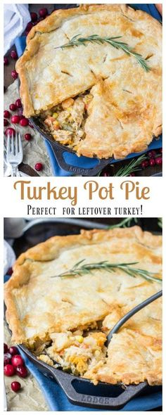 Turkey Pot Pie -- Great for Leftover Turkey! Turkey Pot Pie -- Great for Leftover Turkey! My favorite Turkey Pot Pie Easy Leftover Turkey Recipes, Leftovers Recipes, Turkey Leftovers, Leftover Turkey Casserole, Leftover Turkey Breast Recipe, Cooked Chicken Recipes Leftovers, Turkey Dinner Sides, Recipes Dinner, Thanksgiving
