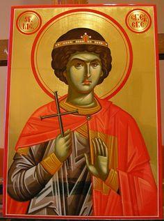 Saints, Church Interior, Orthodox Christianity, Sf, Orthodox Icons, Painting, Soldiers, Fresco, Painting Art