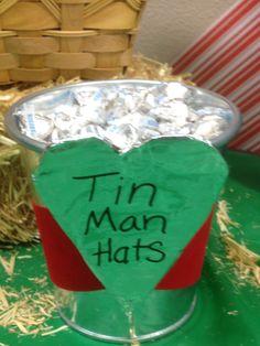 Wizard of Oz Teacher Appreciation week Tin Man Hats = Hershey Kiss