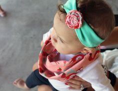 Baby Infinity Scarf and Headband in Fox - Toddler Infinity Scarf Pink Foxes - Woodland Baby Scarf - Rosette Headband Set on Etsy, $20.00