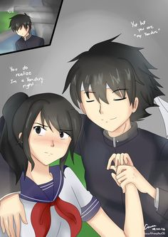 Ayano x Budo Yandere Girl, Yandere Manga, Animes Yandere, Yandere Simulator Characters, Yandere Simulator Memes, Anime Characters, Yendere Simulator, Ayano X Budo, Psycho Girl