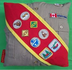 New ideas for old Girl Guide uniforms and badges!  Cool!