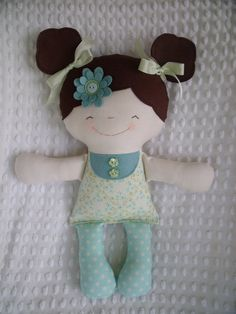 A sweet cloth doll made by me and available in my etsy shop