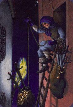Seven of Swords - Anna.K Tarot by Anna Klaffinger