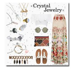 """""""#83 - Crystal Jewelry"""" by intothenight27 ❤ liked on Polyvore featuring Givenchy, Temperley London, Nightcap, Helix & Felix, MANGO, FitFlop, Violeta by Mango, Wet Seal and Forever 21"""
