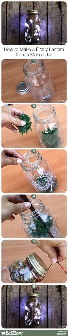 How to Make a Firefly Lantern from a Mason Jar