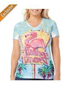 Leoma Lovegrove Womens Flamingo Diner Rib Top