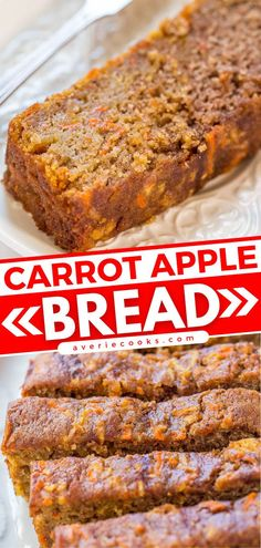 This easy breakfast idea is sure to be a hit! Not only is this quick bread recipe soft, tender, and moist, but it also tastes like a carrot cake infused with apples. So delicious! Bake up a loaf to enjoy with your family! Carrot Bread Recipe, Apple Bread, Easy Bread Recipes, Pumpkin Bread, Egg Recipes, Carrot Cake, Brunch Recipes, Snack Recipes, Brunch Ideas