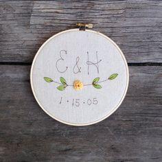 embroidery wedding hoop art