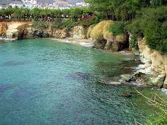 In the left of the central beach 'Agia Pelagia',Crete,Greece