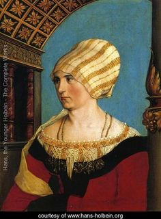 Portrait of Dorothea Meyer (nee Kannengiesser) 1516 - Hans, the Younger Holbein - www.hans-holbein.org