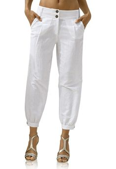 Slacks For Women, Trousers Women, Cigratte Pants, Fashion Pants, Fashion Outfits, Sewing Pants, Travel Pants, Africa Dress, Linen Pants