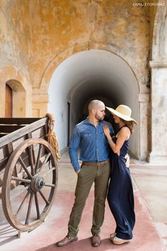 Colors and music! Beautiful engagement session at Old San Juan, Puerto Rico.