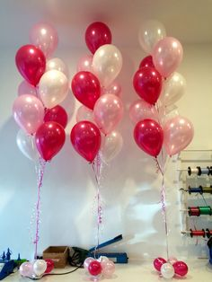 A Very Popular Girly Combination For Balloon Bouquets Pearl Magenta Light Pink And White Soft With Hint Of Boldness