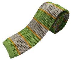 Nick Bronson Knitted Tie - GS5 - Mela/Bianco http://www.joesstore.co.uk/ties/ties.htm