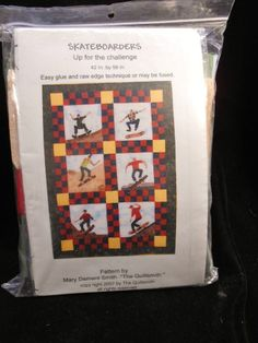 Skate Boarders  Wall Hanging Quilt Pattern Kit Finished size 42 X58 inch #TheQuiltSmith