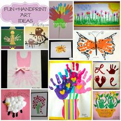 Fun Handprint Art Ideas- The Best Collection of Handprint Crafts Preschool Art, Craft Activities For Kids, Projects For Kids, Diy For Kids, Art Projects, Crafts For Kids, Arts And Crafts, Diy Crafts, Santa Crafts