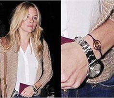 Sienna Miller wearing Daisy Chakra Bracelet