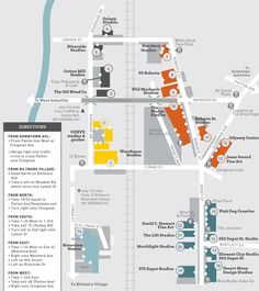 Asheville River Arts District Map - Where to eat, find artists studios and galleries, directions, buildings and more