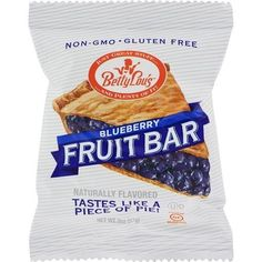 Betty Lou's Peanut Butter & Blueberry Jelly Bar (12x2 OZ)