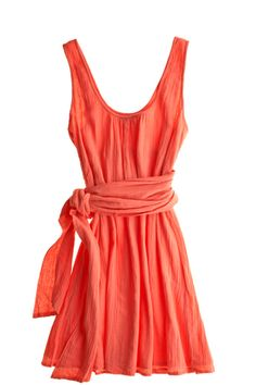 Melita Cotton Sash Dress. Lightweight for daytime wear, but hot enough to dress up for the evening.