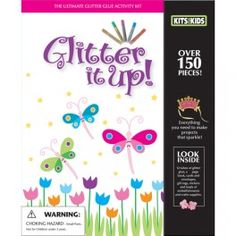 Get Ready! Get Set! Go Glitter! There isn't anything that a dab of glitter doesn't make glamorous. Well, perhaps glittering your peanut butter and jelly sandwich might not be a good idea, but almost everything else is great! This exciting book and kit is sure to inspire you to add a bit of sparkle to your life. Glitter glue is easy to use; whatever fun project you are creating, adding a bit of glitter is sure to turn drab to fab.