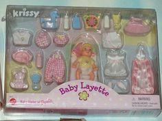 Mattel Barbie Baby Sister Krissy Playsets MIP-Swing-Layette & Scrub a Dub 1999+
