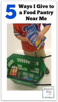 5 Ways I Give to a Food Pantry Near Me - My son and I have found several fun ways to gather food to donate to our local food pantry.