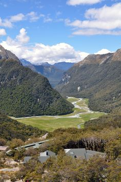 View on the Routeburn Flats on New Zealand's Routeburn Track
