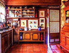 Principles of Filipino Home Decor : Warm Colors Filipino Architecture, Philippine Architecture, Filipino Interior Design, Interior Design Kitchen, Native Kitchen, Filipino House, Bamboo House Design, Bali, Philippine Houses
