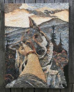 Pebble Mosaic by Anna Solnechnaya Mosaic Walkway, Mosaic Rocks, Mosaic Stepping Stones, Pebble Mosaic, Mosaic Diy, Mosaic Crafts, Stone Mosaic, Mosaic Garden, Mosaic Flower Pots