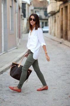 30 Outstanding Work Attire for Business Women 30 Outstanding Work At., 30 Outstanding Work Attire for Business Women 30 Outstanding Work Attire for Business Women Outfit, # Olive Green Cargo Pants, Army Green Pants, Olive Pants, Olive Skinnies, Olive Green Pants Outfit, Army Pants, Green Jeans, Mode Chic, Mode Style