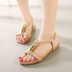 $14.90 (Buy here: https://alitems.com/g/1e8d114494ebda23ff8b16525dc3e8/?i=5&ulp=https%3A%2F%2Fwww.aliexpress.com%2Fitem%2FWomen-Sandals-2016-New-Women-s-Fashion-Bohemian-Sandals-Womens-Plus-Size-35-42-T-strap%2F32661938738.html ) Women Sandals 2016 New Women's Fashion Bohemian Sandals Womens Plus Size 35-42 T-strap Slip on Flats for Girls for just $14.90