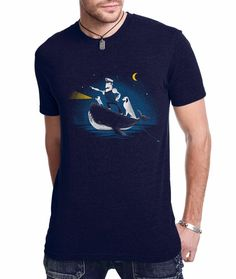 Animal TShirt Nautical Mustache Whale Dog Mens TShirt by FuzzyInk, $21.00