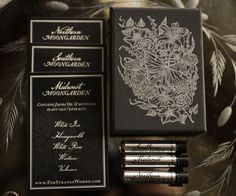 Moongarden natural perfume sample set – white florals from three regions - luxury perfume by For Strange Women