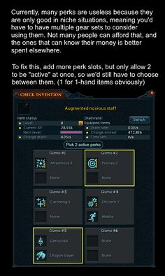 How to fix niche invention perks
