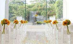 #NOVARESE#vressetrose#wedding #white #chapel #Flower #Bridal #KORIYAMAMONOLITH#結婚準備 #ノバレーゼ#ブレスエットロゼ #郡山モノリス#ウェディング # ヒマワリ# チャペル#ナチュラル  # ブライダル#教会#説教台#バージンロード#挙式