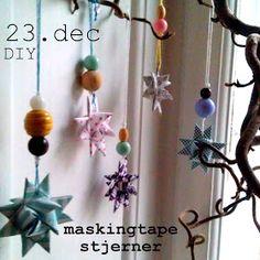 Maries Fabrik: 23. december - masking tape stjerner