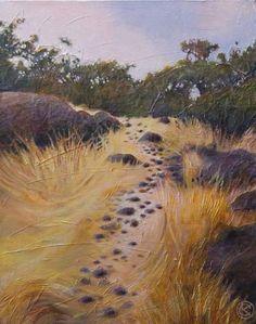 """Katya Coad, Upper Park (Chico, CA), 16"""" x 20"""", Acrylic on canvas - SOLD"""