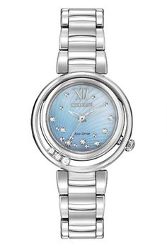 Citizen Women's Eco-Drive L Series Sunrise Diamond Accent Stainless Steel Bracelet Watch - Women's Watches - Jewelry & Watches - Macy's Stainless Steel Watch, Stainless Steel Bracelet, Ladies Dress Watches, Citizen Eco, Quartz Watch, Watches For Men, Women's Watches, Diamond Watches, Wrist Watches