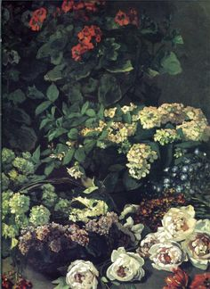 claude monet(1840-1926), spring flowers, 1864. oil on canvas, 91 x 116.8 cm. cleveland museum of art, ohio, use http://www.wikipaintings.org/en/claude-monet/spring-flowers-1864