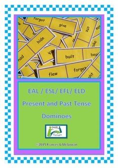 This dominoes game is useful for teaching / consolidating the past tense of irregular verbs, It is suggested that each time a card is placed on the table in the chain, the student should read the words on the card. Laminating the dominoes is recommended. Eal Resources, Irregular Verbs, English Verbs, Root Words, Past Tense, English Language Learners, Vocabulary Activities, Student Reading, Lessons For Kids