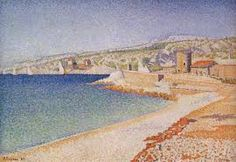 The Jetty at Cassis, Opus 198 - Paul Signac. Artist: Paul Signac. Completion Date: 1889.