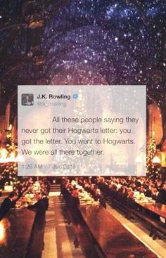 Got my letter! JKR