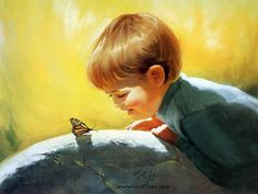 Early Childhood (Vol.01) : Donald  Zolan Paintings of Heartwarming Childhood Innocence  - Sunny Surprise ,  Cute children's paintings from D...