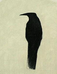donkere duistere vogel