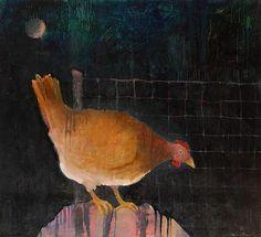Mel McCuddin - 'Young Hen, Out Late' - The Art Spirit Gallery of Fine Art
