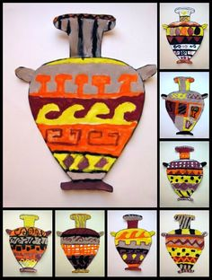 Plastic: Greek pottery - 1 Ancient Greek Art, Ancient Greece, Egyptian Art, Ancient Aliens, Ancient Egypt, Greece Art, Art History Lessons, Obelix, Art Through The Ages