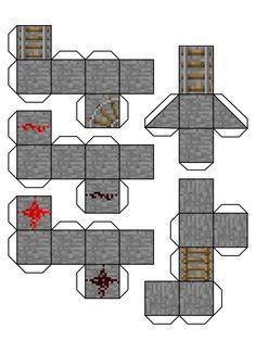 papercraft bloques de tierra - Buscar con Google